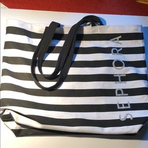 Sephora black and white tote bag